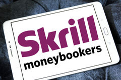 Skrill, ηλεκτρονικό λογότυπο τραπεζών moneybookers Στοκ εικόνες με δικαίωμα ελεύθερης χρήσης