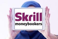 Skrill, логотип банка moneybookers электронный Стоковые Фото