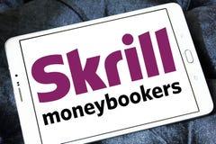 Skrill, логотип банка moneybookers электронный Стоковые Изображения RF
