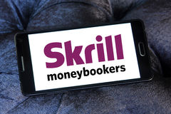 Skrill electronic bank logo Royalty Free Stock Photo