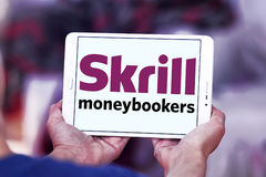 Skrill , moneybookers electronic bank logo Royalty Free Stock Photography