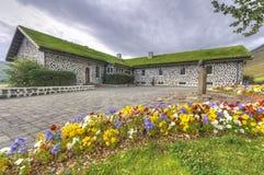 Skriouklausturlandbouwbedrijf in Oost-IJsland Royalty-vrije Stock Afbeelding
