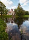 Skripuchaya-Pavillon, Catherine Park, Tsarskoe Selo Stockfotos