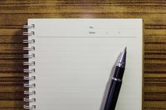 Skriv din minnesmärke arkivfoton