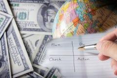 Skriv ett plan till framgångaffären. royaltyfri fotografi