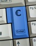 skriv in eurozonen till Royaltyfri Fotografi
