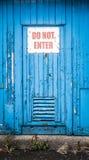 Skriv in inte dörren Royaltyfri Fotografi
