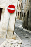 Skriv in inte gatatecknet Arkivbilder