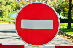 Vägen undertecknar upp Arkivfoto