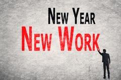 Skriv ord på väggen, New York för nytt år Arkivbilder
