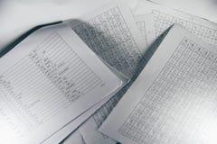Skriv ordlista för det kinesiska språket för nybörjare arkivbilder