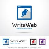 Skriv rengöringsduken Logo Template Design Vector Vektor Illustrationer