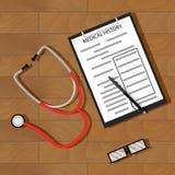 Skriv tålmodig medicinsk historia royaltyfri illustrationer