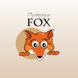 Skriv ut framsidan av en räv också vektor för coreldrawillustration Royaltyfri Bild
