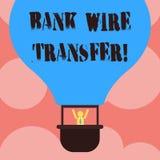 Skriva överföring för tråd för anmärkningsvisningbank Affärsfotoet som ställer ut pengar, går från en bank eller kreditering anna stock illustrationer