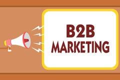 Skriva anmärkningen som visar B2B marknadsföringen Affärsfotoet som ställer ut blytak för sammanslagning för partnerskapföretagsd royaltyfri illustrationer