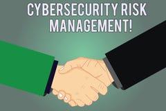 Skriva anmärkningen som visar Cybersecurity riskledning Affärsfoto som ställer ut identifiera hot och applicera handlingHu analys vektor illustrationer