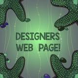Skriva anmärkningen som visar formgivare webbsidan Affärsfoto som ställer ut någon som förbereder innehållet för Websitessidor vektor illustrationer