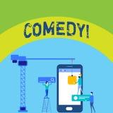 Skriva anmärkningen som visar komedi Affärsfotoet som ställer ut gyckel, blidkar satirisk situationskomediuppsluppenhet som skoja vektor illustrationer