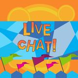 Skriva anmärkningen som visar Live Chat Affärsfoto som ställer ut rengöringsdukservice som låter affärer eller vänner meddela royaltyfri illustrationer