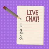 Skriva anmärkningen som visar Live Chat Affärsfoto som ställer ut rengöringsdukservice som låter affärer eller vänner meddela vektor illustrationer