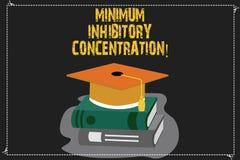 Skriva anmärkningen som visar minimum Inhibitory koncentration Affärsfoto som ställer ut lägst koncentration av en kemikalie vektor illustrationer