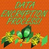 Skriva anmärkningen som visar process för datakryptering Affärsfoto som ställer ut metoden av att översätta data in i en annan fä vektor illustrationer