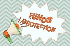 Skriva anmärkningsvisning betalar skydd Affärsfoto som ställer ut investering för initial för löftereturdel till investoen stock illustrationer