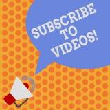 Skriva anmärkningsvisning prenumerera till video Att ställa ut för affärsfoto gillar att se mer innehåll från de kanalsidor royaltyfri illustrationer