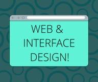 Skriva anmärkningsvisningrengöringsduk och manöverenhetsdesign Affärsfoto som ställer ut framkallning för Websiteformgivareonline stock illustrationer