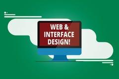 Skriva anmärkningsvisningrengöringsduk och manöverenhetsdesign Affärsfoto som ställer ut framkallning för Websiteformgivaremonter vektor illustrationer