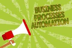 Skriva automation för processar för anmärkningsvisningaffär Att ställa ut för affärsfoto utförde för att uppnå den digitala omfor Arkivfoton