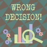 Skriva beslut f?r anm?rkningsvisningor?tt Aff?rsfoto som st?ller ut handling eller att f?ra att tillfoga skada utan f?rfallen pro vektor illustrationer