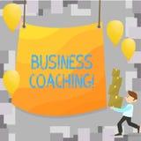 Skriva coachning för anmärkningsvisningaffär Affärsfoto som ställer ut den konsulterande experten din förbättring för fälterfaren vektor illustrationer