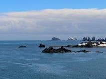 Skriva in de södra Shetland öarna Arkivfoton