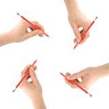 skriva för händer Royaltyfri Foto