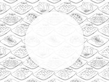skriva för mall för designbrandanteckningsbok som är ditt grillfester stock illustrationer