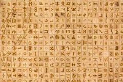 skriva för symboler Arkivbild