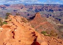 Skriva in Grand Canyon på den Kaibab slingan Arkivfoto