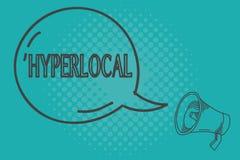 Skriva Hyperlocal anmärkningsuppvisning Affärsfoto som ställer ut om att angå en liten gemenskap eller ett geografiskt område vektor illustrationer