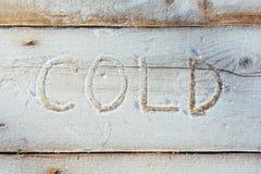 Skriva på snön Trä texturera Arkivbilder