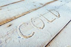 Skriva på snön Trä texturera Royaltyfria Bilder