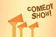 Skriva show för anmärkningsvisningkomedi Affärsfotoet som ställer ut humoristiskt underhållande medel för roligt program av under vektor illustrationer