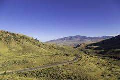 Skrivande in Yellowstone Arkivbild