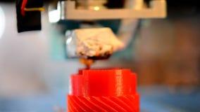 Skrivarcloseup för printing 3D stock video