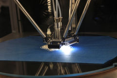 skrivare 3D för plast- Arkivbilder