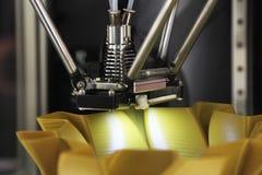 skrivare 3D för plast- Arkivfoton