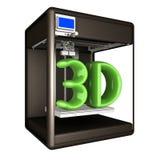 skrivare 3D illustration 3d stock illustrationer