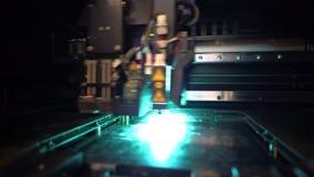 skrivare 3D under printingoperation stock video