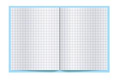 Skrivbok för att skriva spridning, med tomma sidor Materielvektor vektor illustrationer